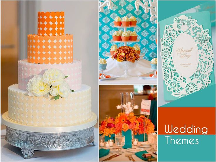 Need an inspiration for the ideal color theme for your #SummerWedding? A combination of classic blue and tangerine is the perfect choice for a wedding ceremony.