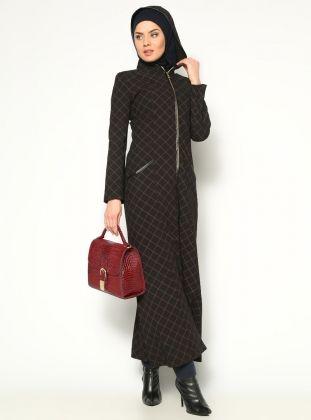 Hooded Abaya - Maroon - Veteks Line