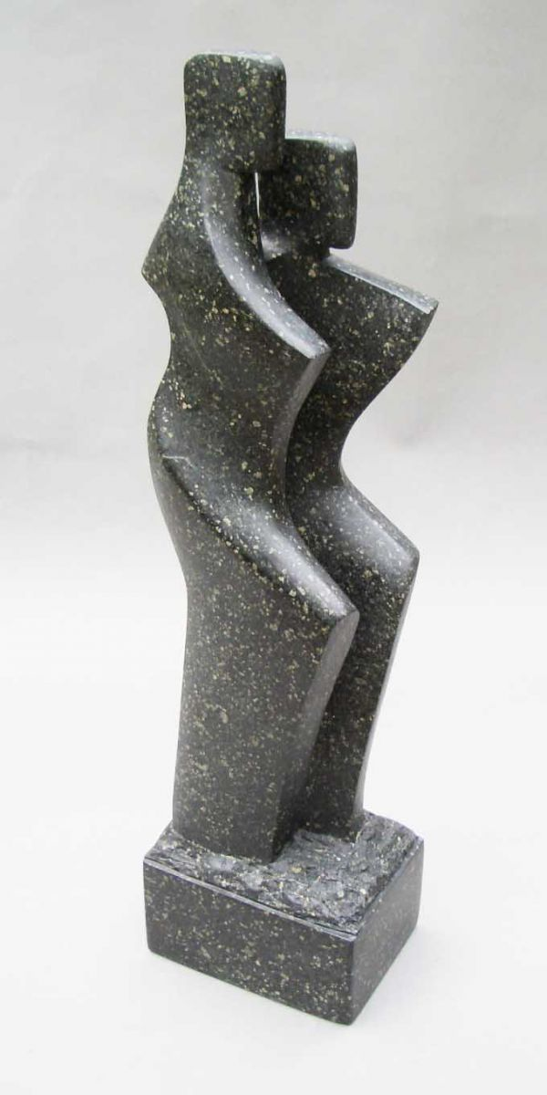 Soapstone carving Figurative Abstract Modern or Contemporary Sculptures Statues statuary statuettes figurines sculpture by artist John Brown titled: 'Tango'