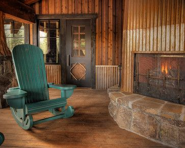 Martis Camp Rocking Chair - eclectic - outdoor chairs - phoenix - by Studio V Interior Design