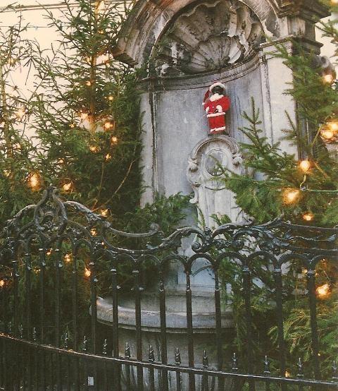 Christmas - Manneken Pis at Christmas...Brussels, Belgium