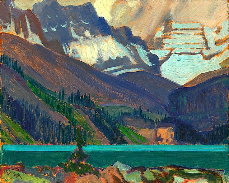 Snow Clouds, Lake O'Hara, 1929.. . . J.E.H. MacDONALD.. 5/12/1873--11/26/1932 ..... . member of the Canadian Group of Seven
