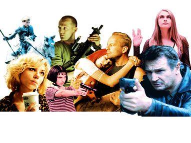 Películas de Luc Besson: 'Juana de Arco', 'Lucy', 'El profesional (León)', 'Transporter', 'El quinto elemento', 'Valerian' y 'Venganza'.