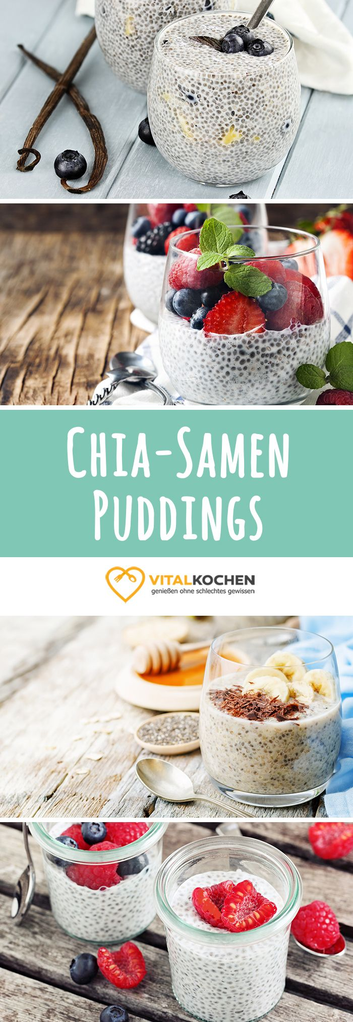 Chia Samen Rezepte - Vegane Chia Samen Puddings, Smoothie Bowls und Shakes