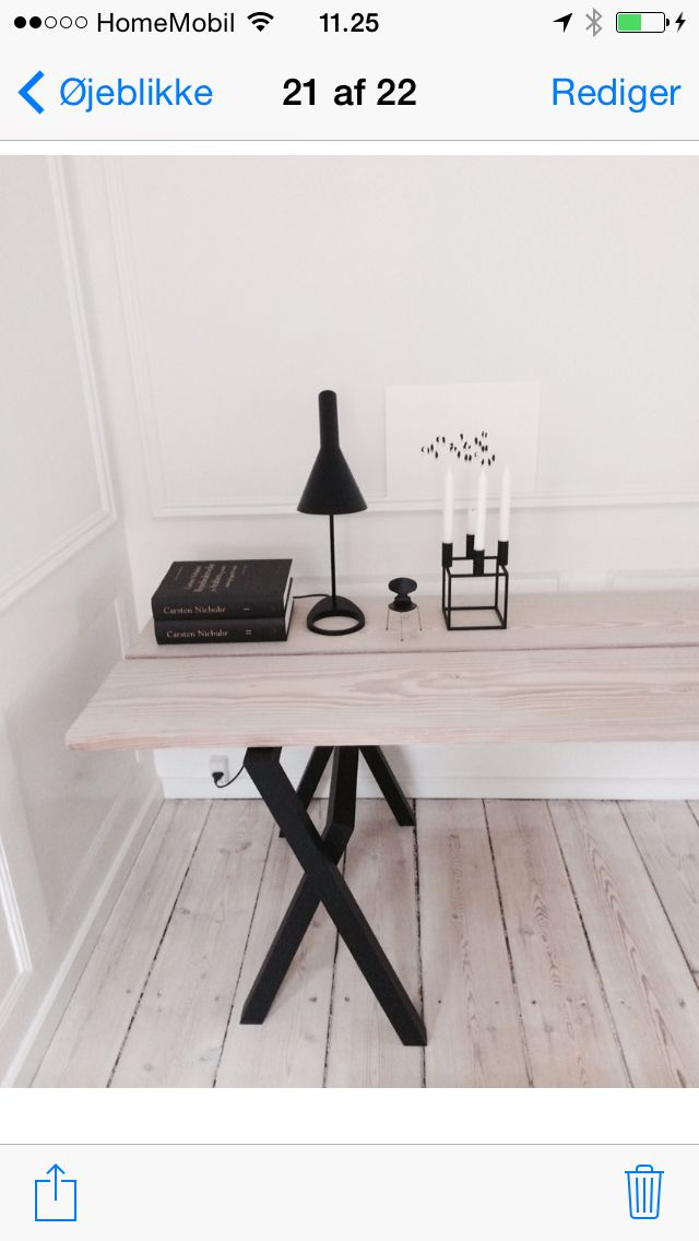 My desk by Design Nation and Dinesen