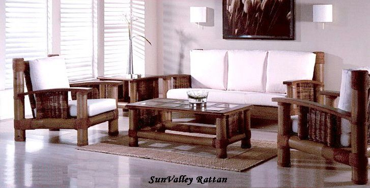 Philippine bamboo living room furniture set TGIF Pinterest