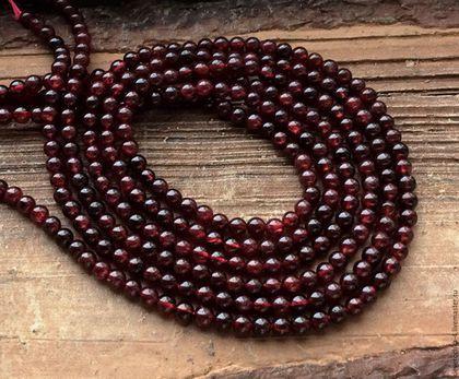 Для украшений ручной работы. Ярмарка Мастеров - ручная работа. Купить Гранат шар 4 мм - 10 шт гладкий бусины камни для украшений. Handmade.