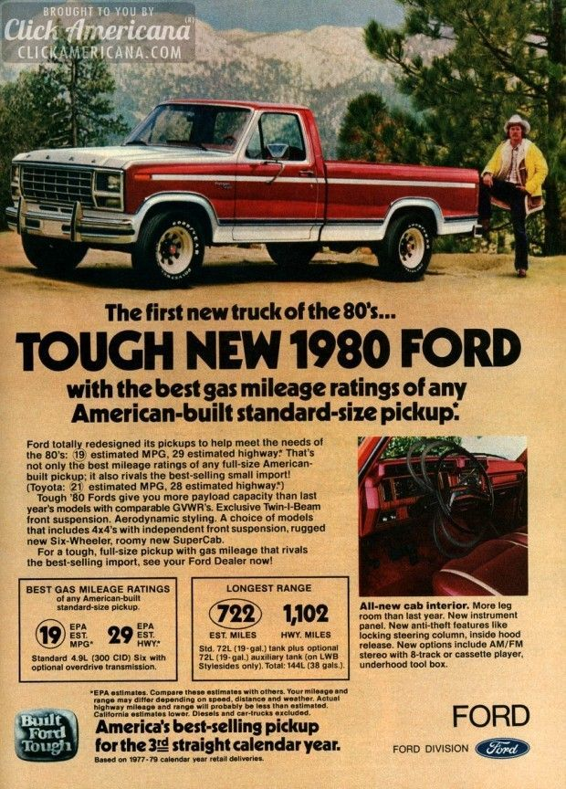 First New Truck Of The 80s Tough New 1980 Ford Ford Pickup Trucks New Trucks Pickup Trucks