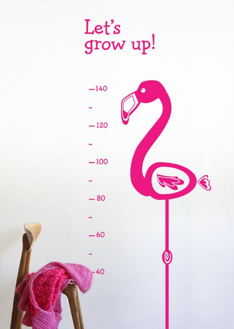 wall sticker KIDS & NURSERY Flamingo Growth Chart big