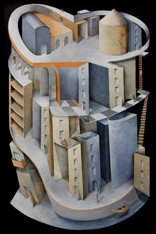 Heart of the city 60x90 cm