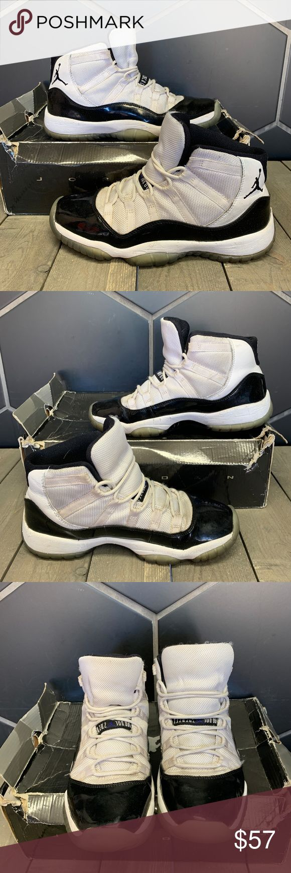 2011 Air Jordan 11 Concord GS Size 5.5 Youth Used W