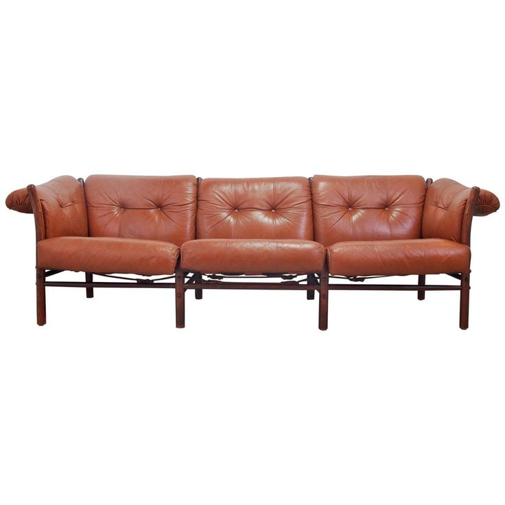 Arne Norell Leather Sofa, Model Ilona | From a unique collection of antique and modern sofas at https://www.1stdibs.com/furniture/seating/sofas/