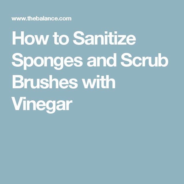 How to Sanitize Sponges and Scrub Brushes with Vinegar