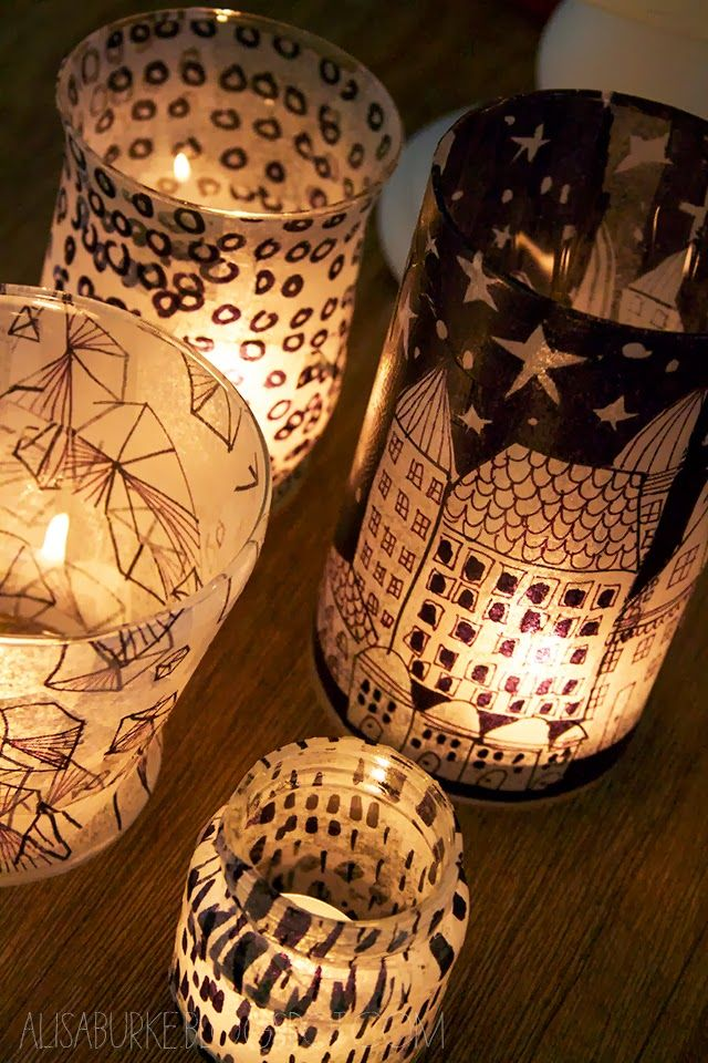 DIY tissue paper lanterns
