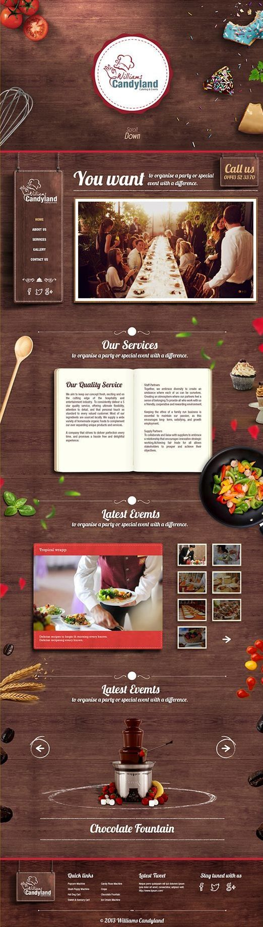 Unique Web Design, Williams Candyland #WebDesign #Design (http://www.pinterest.com/aldenchong/)