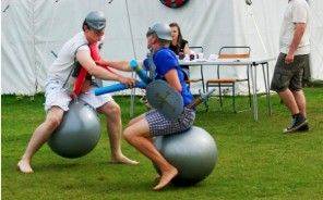 Space hopper jousting