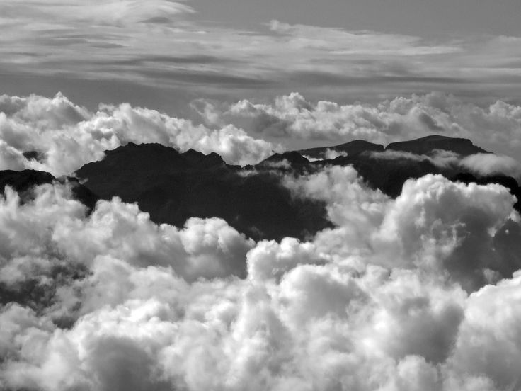 Home - mountains from the plane b & w by Lecia Nel on 500px