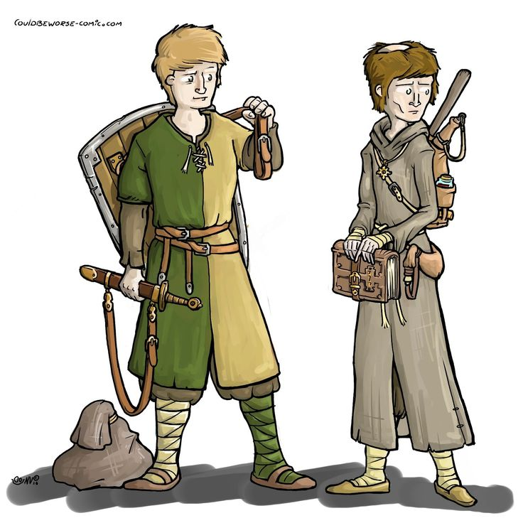 fighter and cleric monk. medieval. made for a  http://stage-rpg.com/ campaign