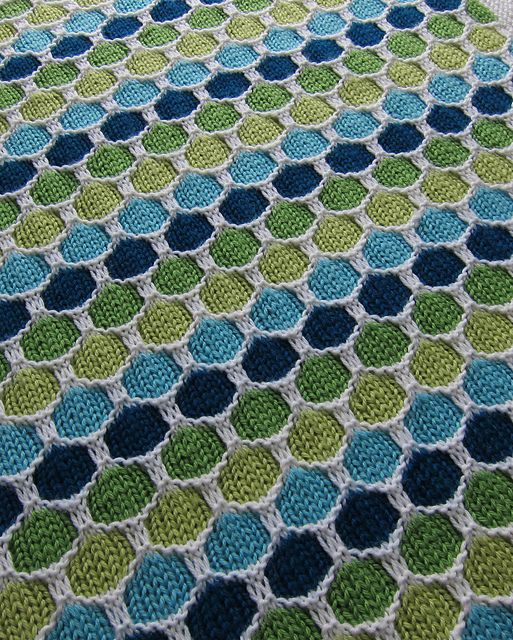 Honeycomb Knitted Blanket Free Pattern
