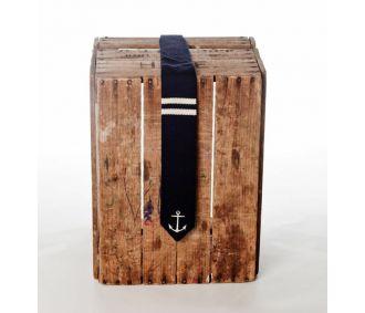 Indigo naval knit tie