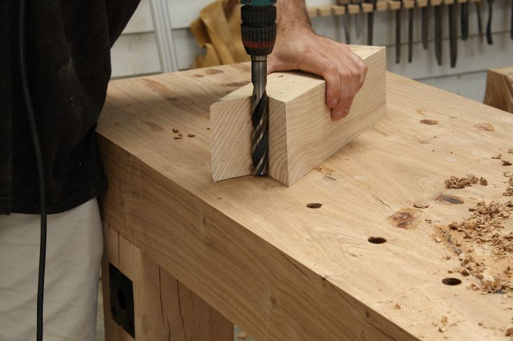 Easy straight hole drilling guide This is something I have used many times when I can't use the drill press.