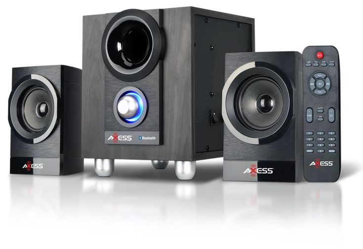 Professional Entertainment System Speakers Subwoofer Bluetooth USB SD FM Radio  #Axses
