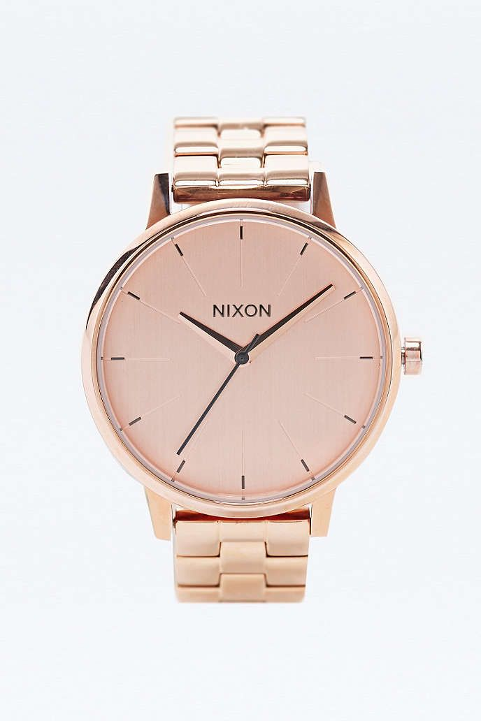 Nixon - Montre Kensington couleur or rose - Urban Outfitters