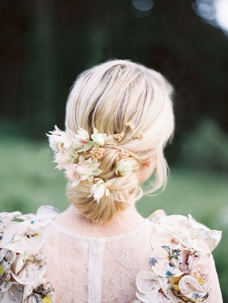 Mountain Wedding Styled Shoot Whimsical Floral Dress Floral Hairstyle Forest Flower Girl Garden Floral Bea Bride Hairstyles Flowers In Hair Bridal Hair