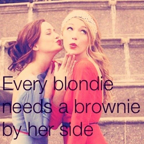 Every blondie needs a brownie by her side | FollowPics