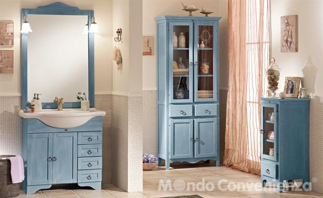 Idee per arredare un bagno in stile classico - Mobile lavabo verde ...
