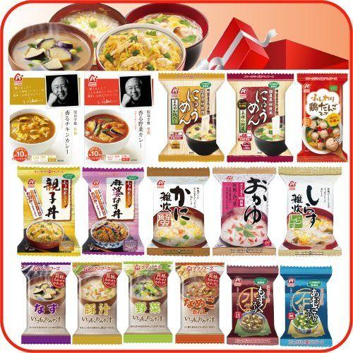 【 アマノフーズ フリーズドライ 】 セレクト BOX 1 ( 16種類 ) バラエティ セット ( 味噌汁 ・ 雑炊 ・ おかゆ ・ にゅうめん ・ スープ…