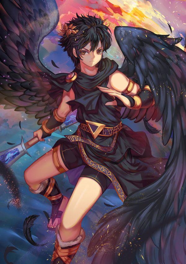 Dark Pit - Kid Icarus by Rokudo-Aurora.deviantart.com on @DeviantArt