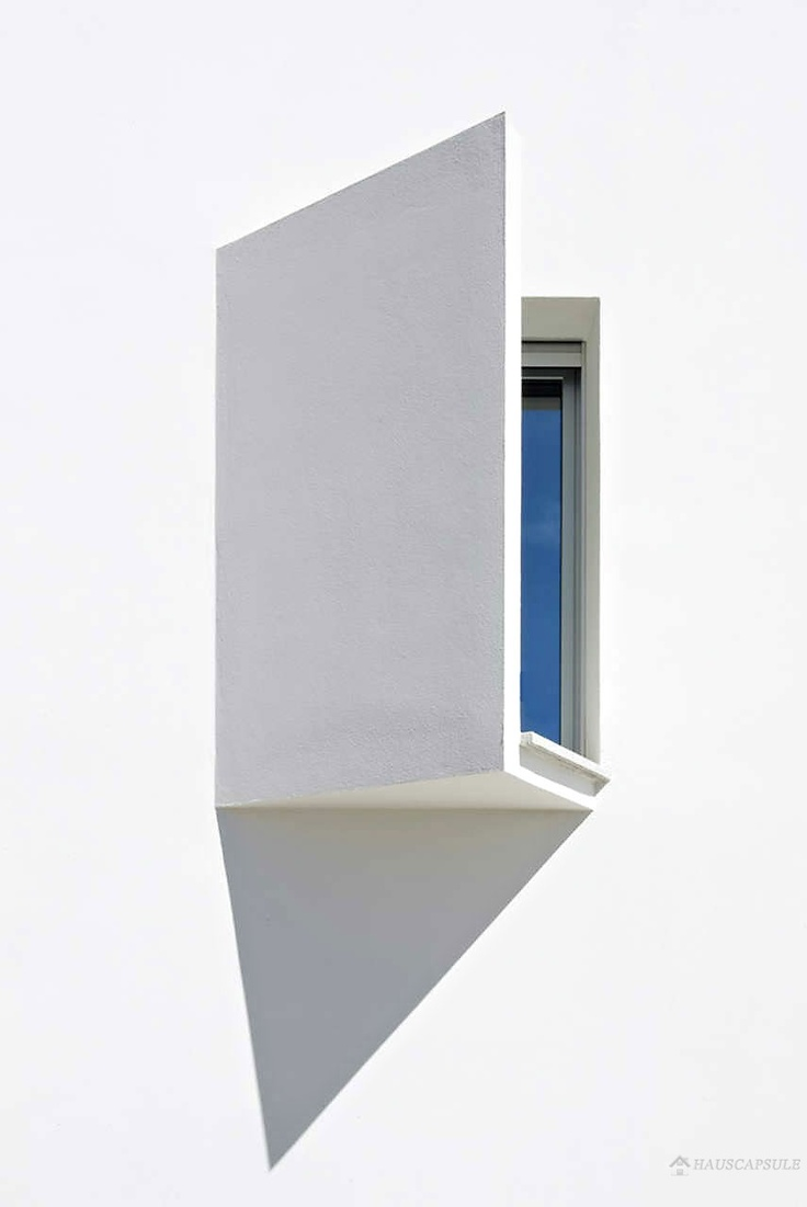 window with a slanted view Siza Vieira