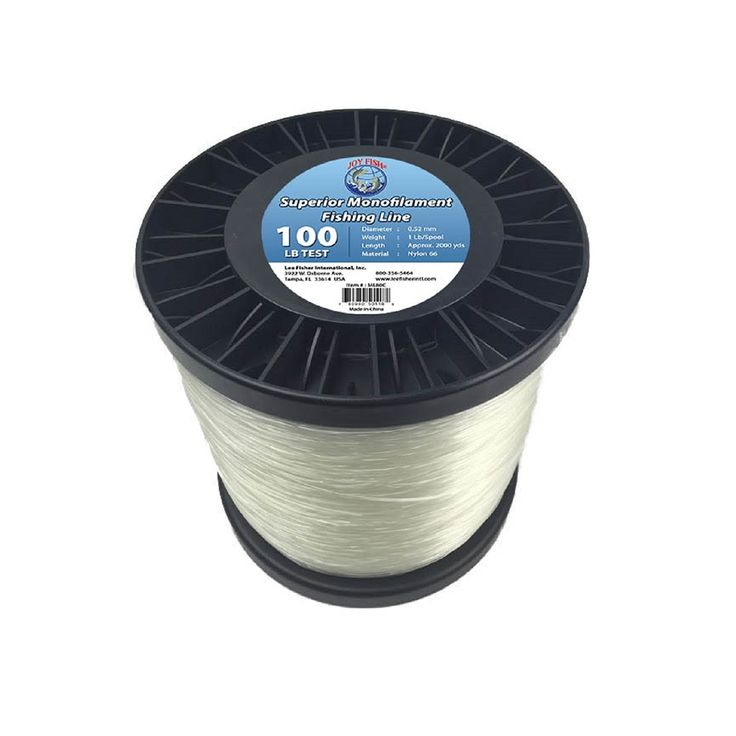 Lee Fisher Joy Fish Spool Monofilament Fishing Line, 100 lb, Clear * Check out this great product.