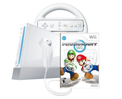 Wii Console With Mario Kart Wii Bundle - White, 2015 Amazon Top Rated Wii #VideoGames