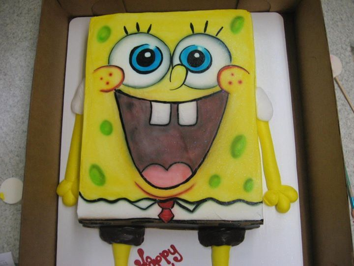 Magnificent Shaped Spongebob Squarepants Boys Girls Birthday With Images Personalised Birthday Cards Veneteletsinfo