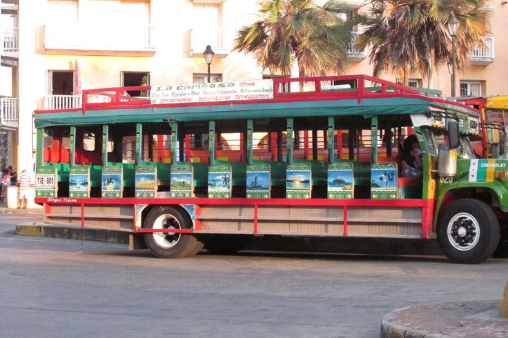 "Cartagena de Indias, Colombia - ""chiva"" is like a bus..."
