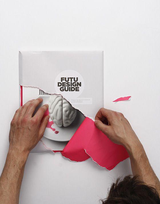 Book design: cover and slip cover treatments at http://aesthetecurator.com/futu-design-guide/