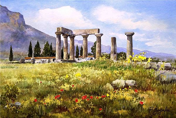 Stunning Watercolor Paintings of Greece