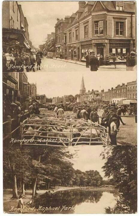 Historic photos of Romford, Essex. **