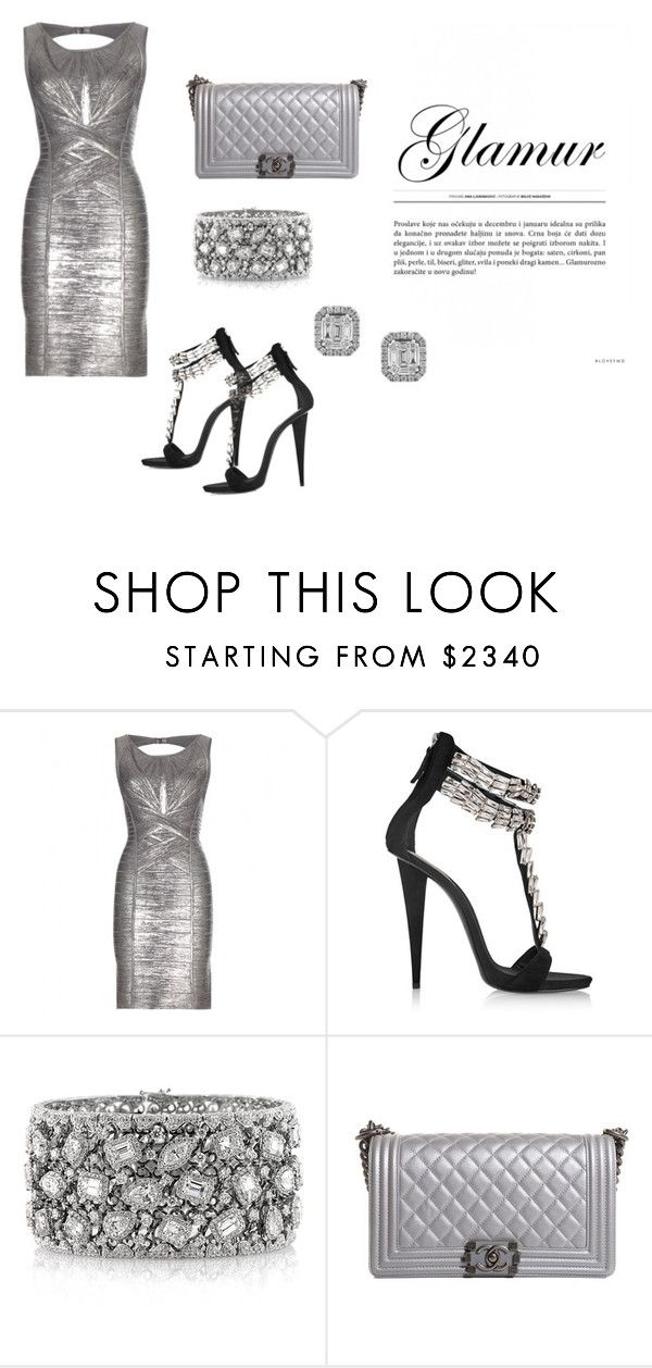 """Untitled #33"" by reetta-v on Polyvore featuring Hervé Léger, Giuseppe Zanotti, Mark Broumand, Chanel and Effy Jewelry"