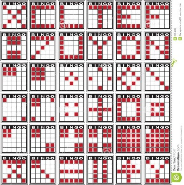 Bingo Pattern Examples Bingo Patterns Bingo Printable Bingo Cards
