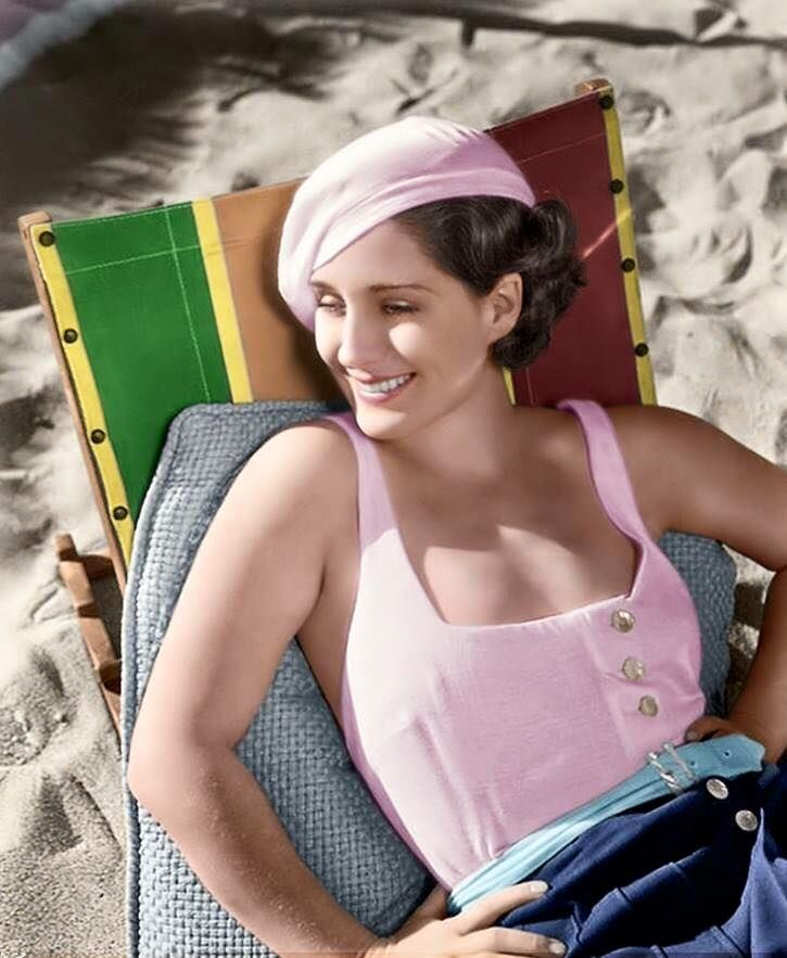 Norma Shearer, colorized photo of her.                                                                                                                                                                                 More