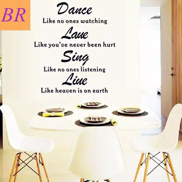 To Brazil Russia Wall Stickers Dance As Though No One Is Watching Pvc Wall  Decal Quote Part 56