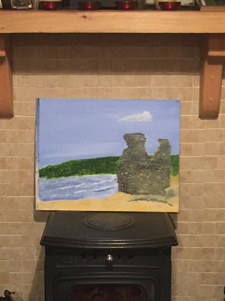 Black Castle Wicklow Painting by PaintingsbyPhilomena on Etsy