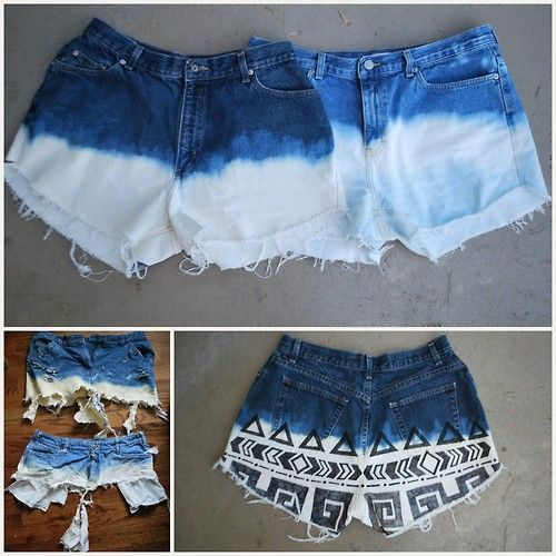 DIY Bleached Shorts Failure and Success and Important Tips from Oh So Pretty here.Also a linked article on how to properly neutralize bleach. Washing a bleached item in water is often not enough. If I was selling bleached fabric on Etsy I would say that I used Bleach Stop as a selling point.