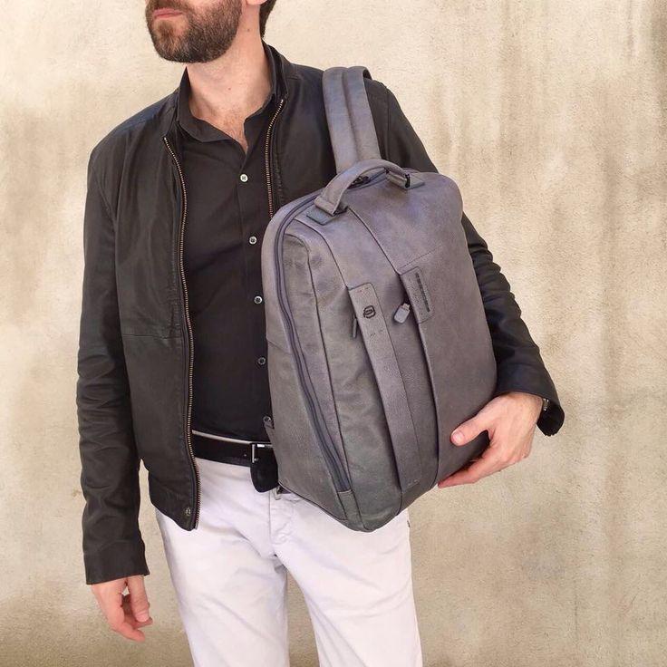 PIQUADRO manlioboutique.com/piquadro #bags #leather #backpack