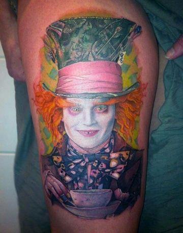 tatuajes del sombrerero loco ideas