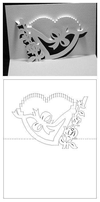 Carte kirigami coeur