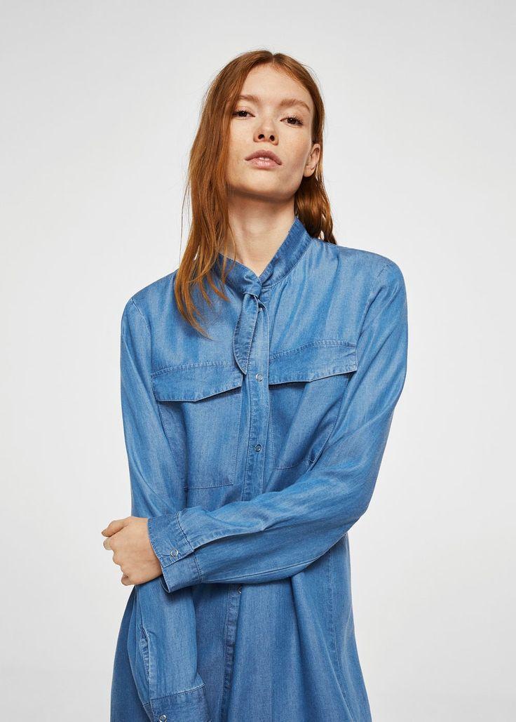 Robe chemise denim mango